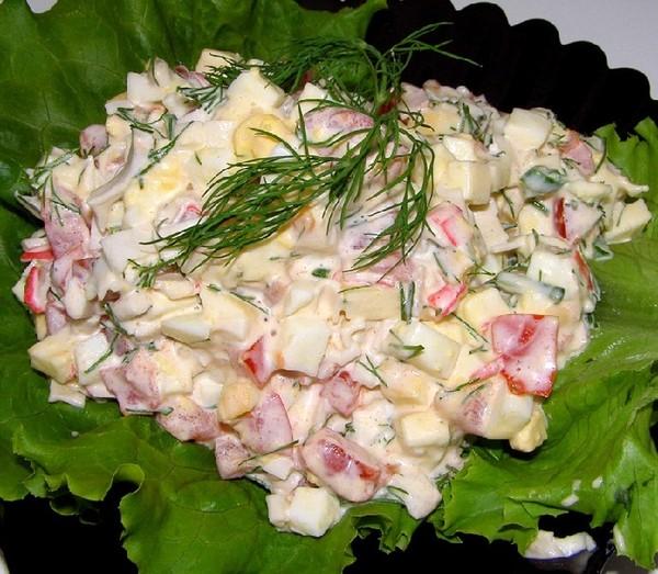 Салаты из крабов рецепты с фото