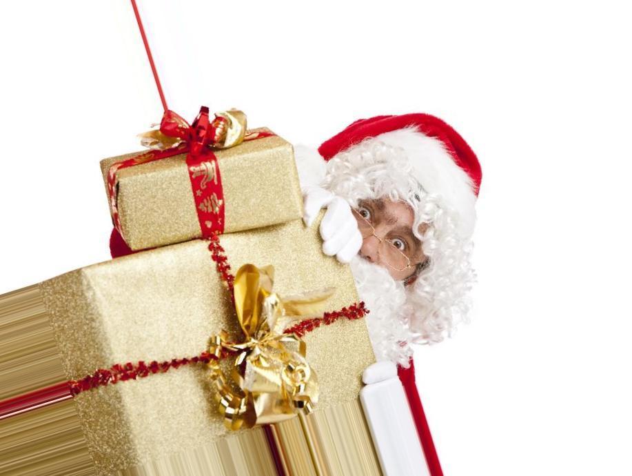 Дед мороз с подарками картинки