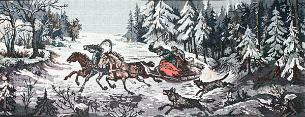 Картинки по запросу Тройка в искусстве с волками
