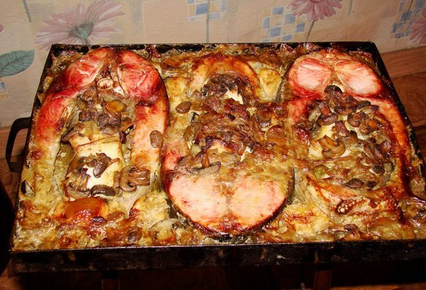 рецепт тушкной рыбы со сметаной толстолобик