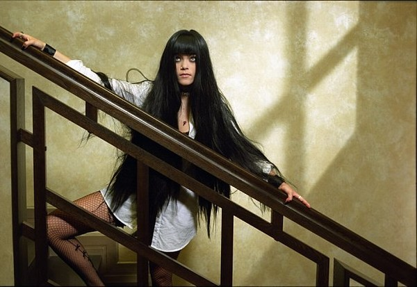 фото длинные волосы черные