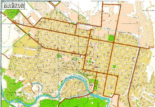 Карта майкопа в фотографиях