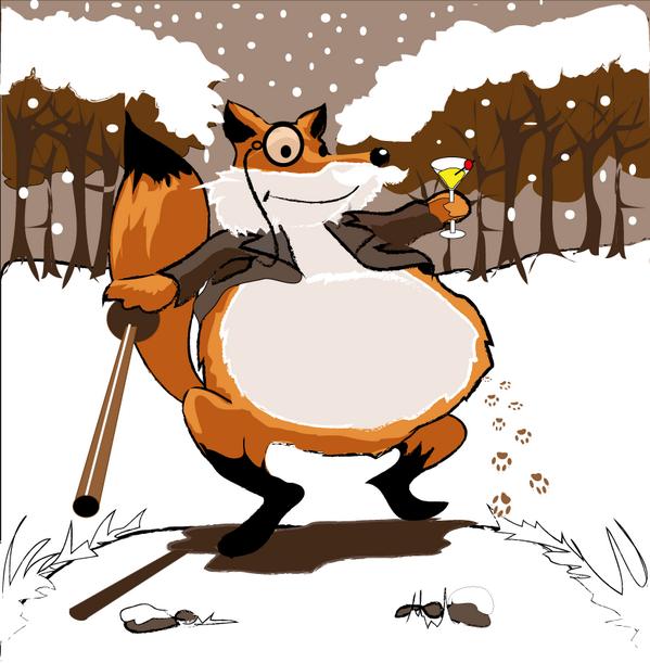 Карикатурные картинки лис