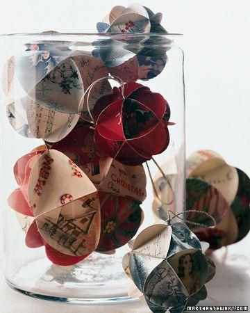 Картинки, делаем новогодние шары из открыток