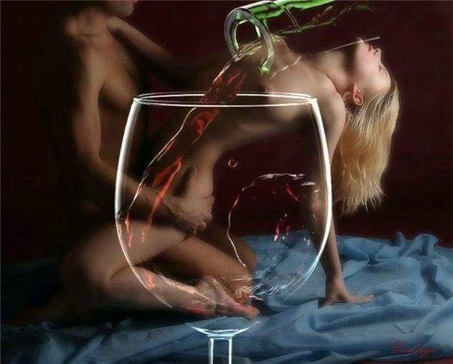 Выпила бокал вина порно — pic 2