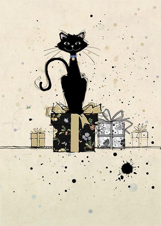 Открытки ко дню рождения кошками, открытках