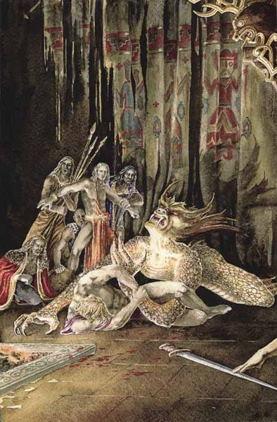 an analysis of the role of queen in beowulf and grendel an anglo saxon epic