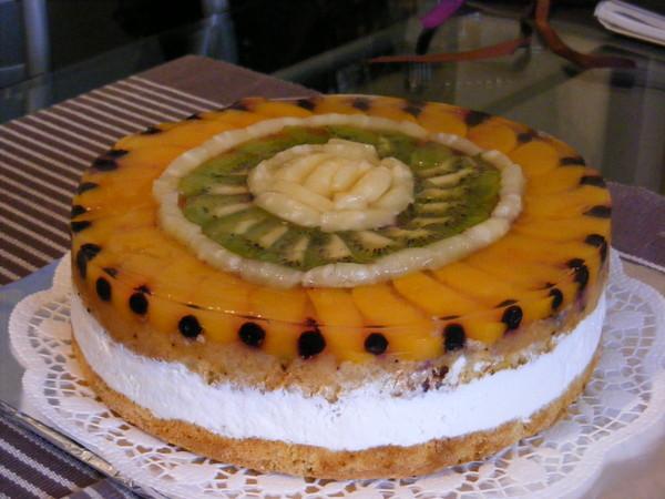 Бисквитно желейный торт рецепт фото