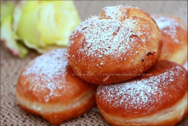 Пончики с кремом рецепт с фото