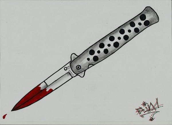 Нож бабочка картинки для срисовки