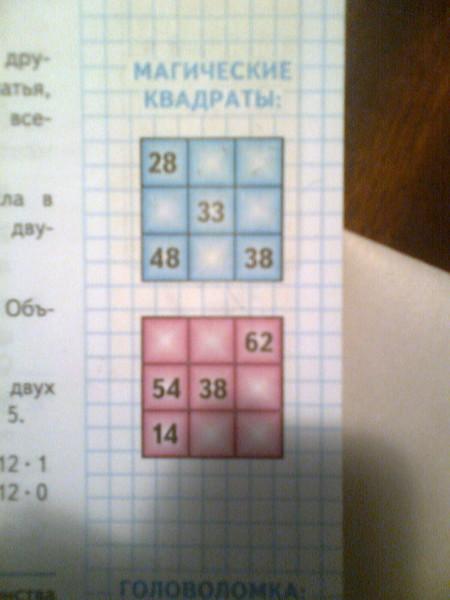 класс гдз 4 по часть математике моро квадрат 2 магический
