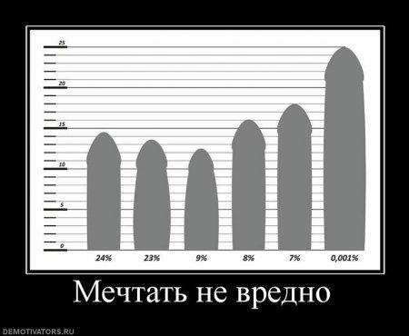 Средестатистический размер пениса