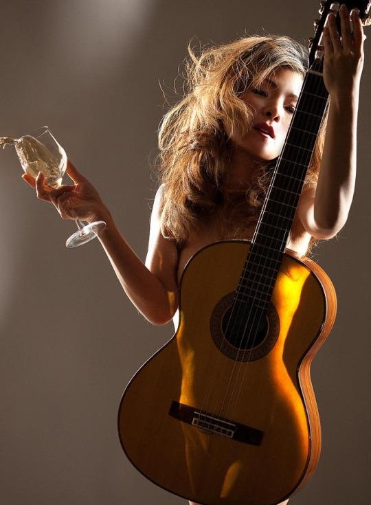 Naked girl guitar images, stock photos vectors