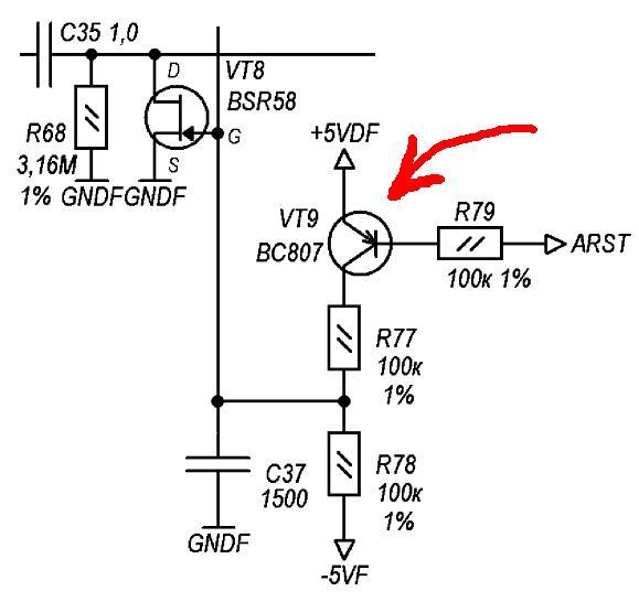 ключе на PNP транзисторе!