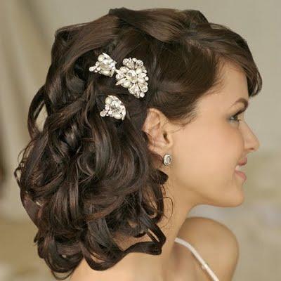 Прическа волосы до плеч на свадьбу