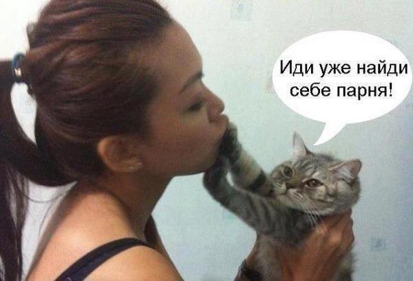 Мой кот любит целоваться