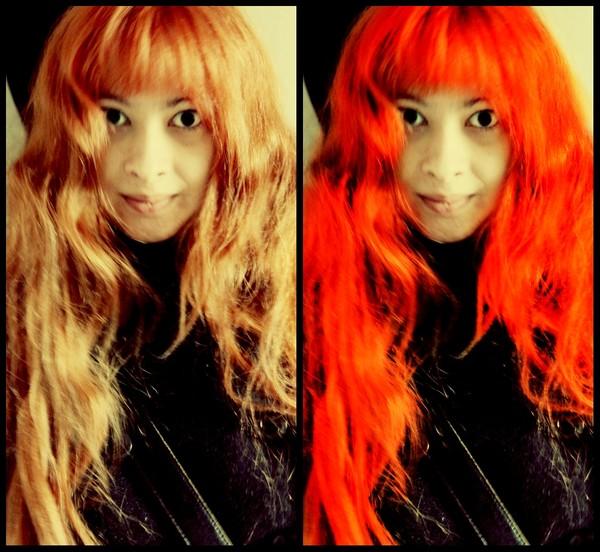Ярко рыжий цвет волос краска