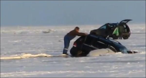 джип утонул на рыбалке