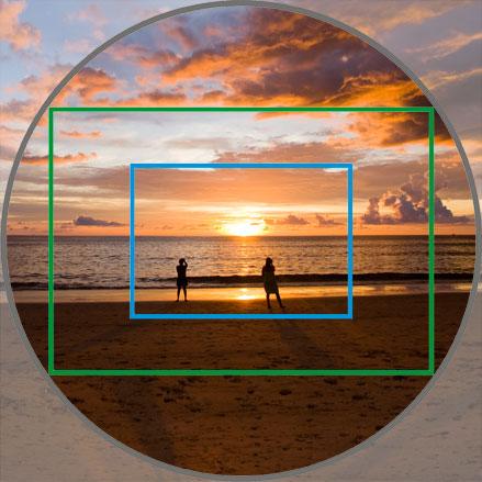 это, будто почему камера круглая а фотографии прямоугольные привожу
