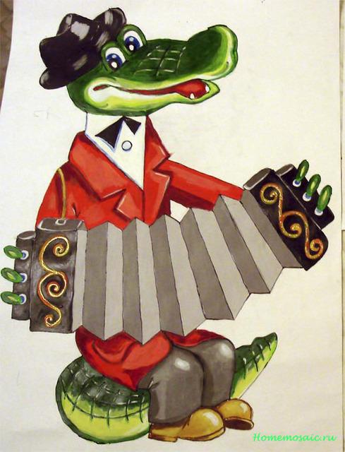 Картинка крокодила гены с гармошкой