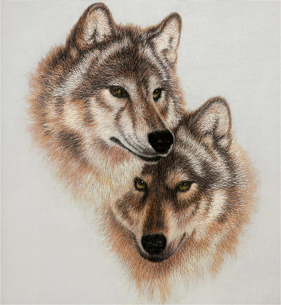 с волками на аву