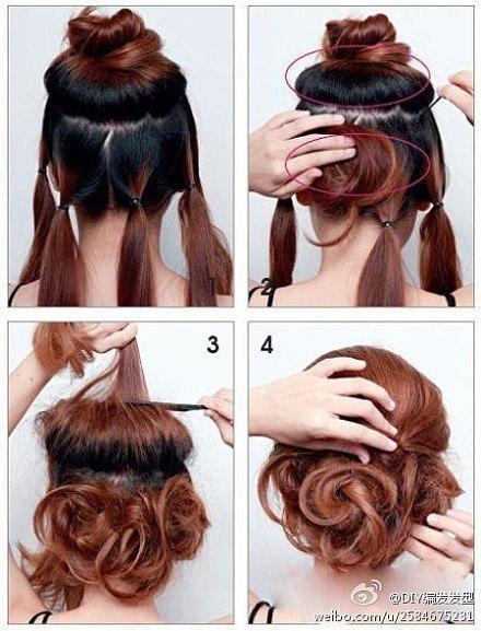 Прически с волосами средней длины шпильки для волос