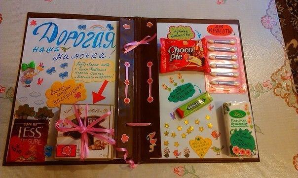 Как нарисовать открытку для мамы на новый год