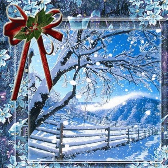 Анимация, открытки с днем рождения снежинки