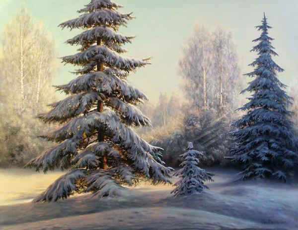 Зимние картинки рисунки елки