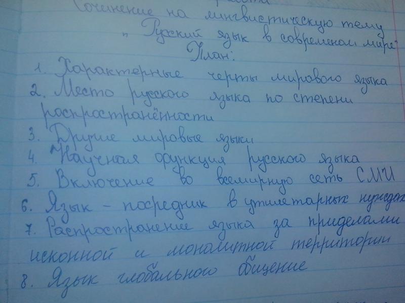 Современный русский язык эссе 7964
