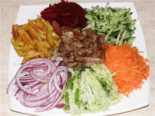 Салат горками фото