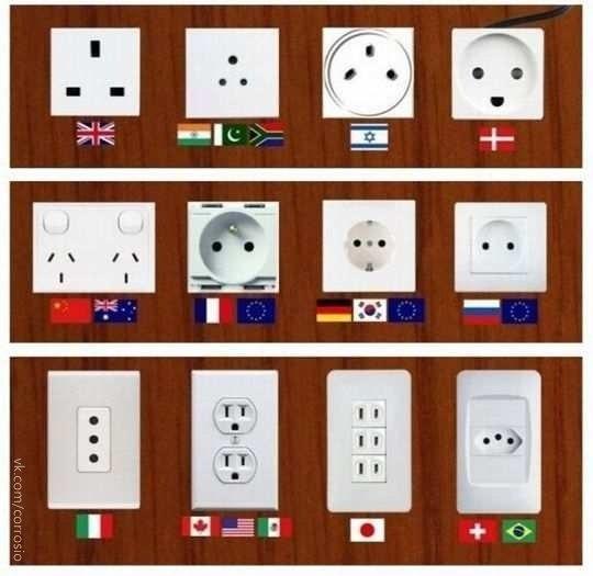 Разные  в разных странах