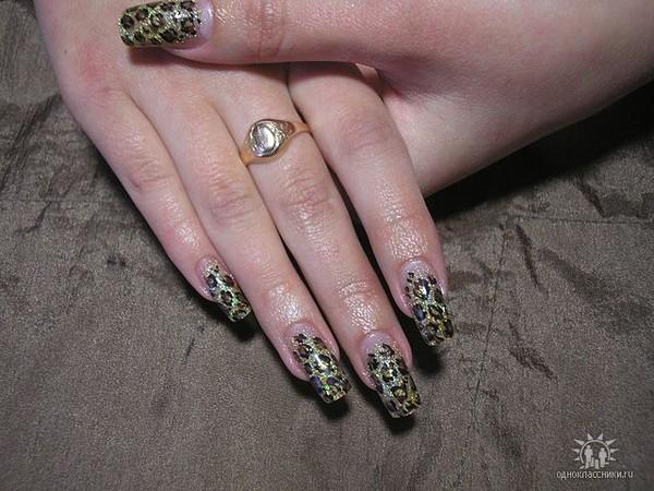 Нарощенные ногти фото скорпион