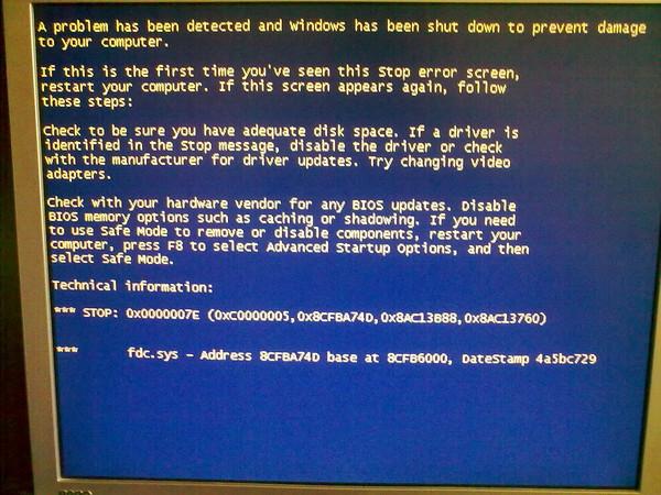 непредвиденная ошибка программы установки windows 7