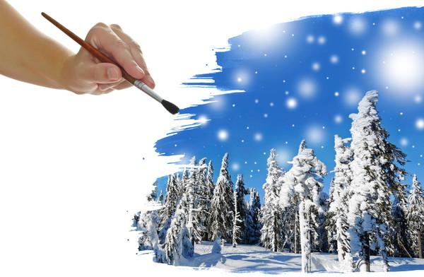 Картинки зима холодная вьюга