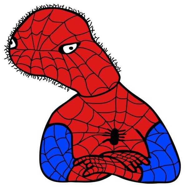 мем с человеком пауком нарисованным других