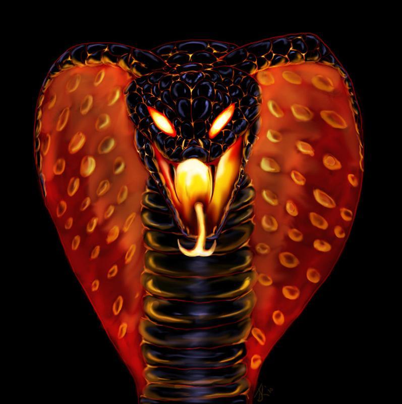 Открытка, крутые картинки кобра