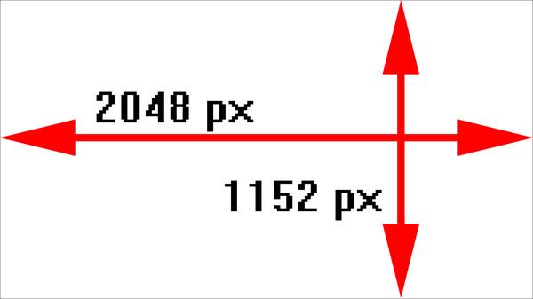 Картинки 2048 пикс в ширину и 1152 пикс в высоту для канала