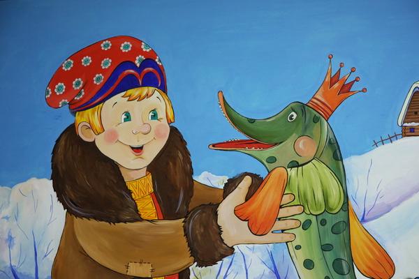 Картинка щуки из сказки емеля