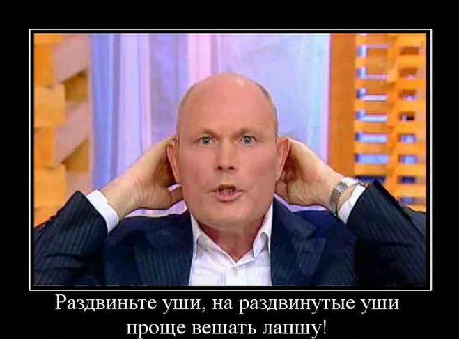 Демотиваторы лапша на ушах