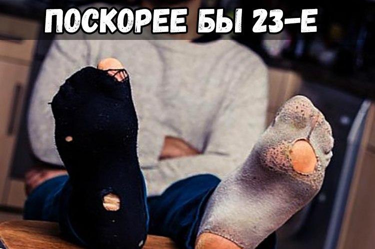 Смешные картинки про носки 23 февраля