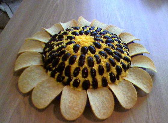 салат подсолнух с чипсами рецепт с фото