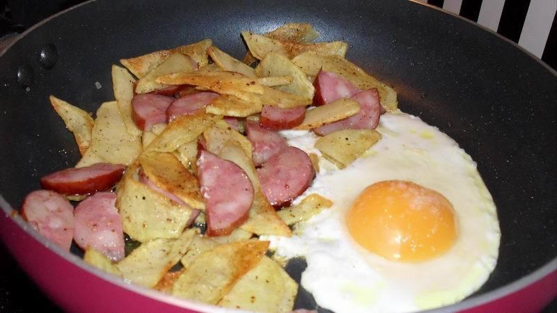 жареная картошка с яйцом рецепт с фото