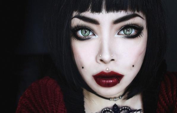 Худая девушка с большими глазами, смотреть порно фото трахнул красотку в попу