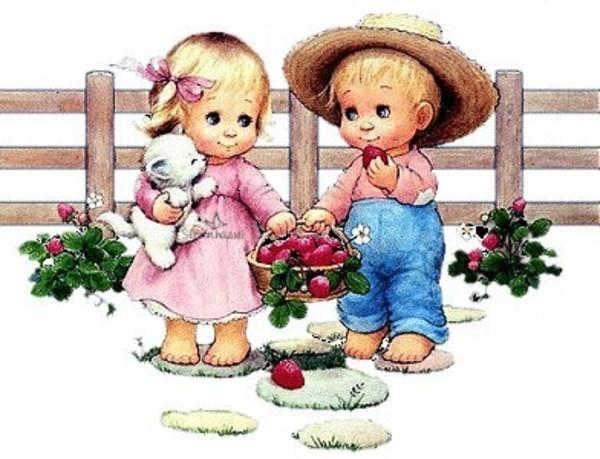 Детские открытки с дружбой, марта картинки