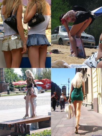Девочки в мини юбках чулках и без трусиков фото 203-2