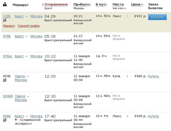 купить билет брест москва народные средства, которые