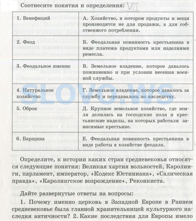 Ответы mail.ru по истории 6 класс