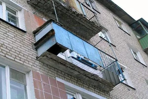 Сколько выдерживает балкон в хрущевке.