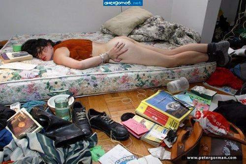 Баба спит